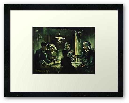 Láminas enmarcadas «Vincent van Gogh - Los comedores de patatas» de ...