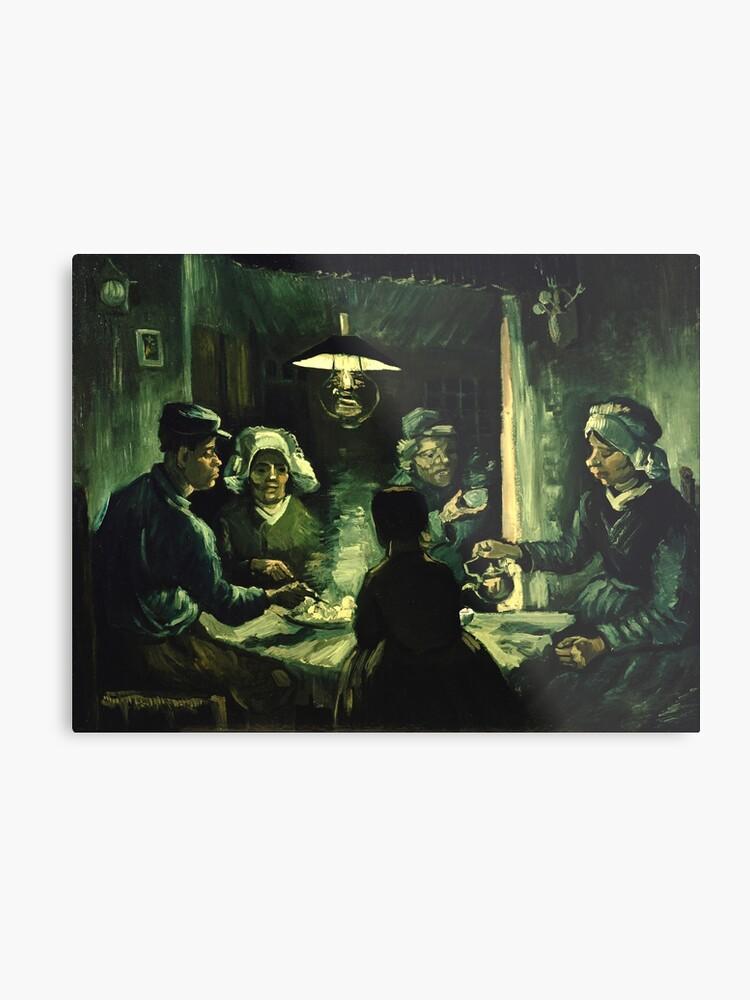 Vincent van Gogh - Los comedores de patatas | Lámina metálica