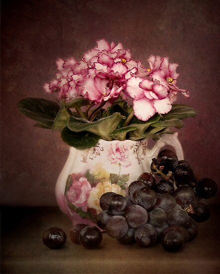 Violets And Grapes by Holly Cawfield