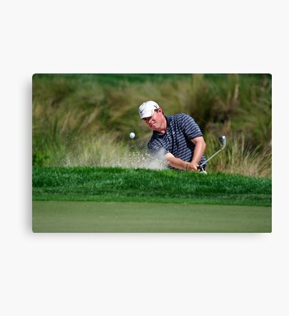 Justin Leonard - Hits Out of a Bunker Canvas Print