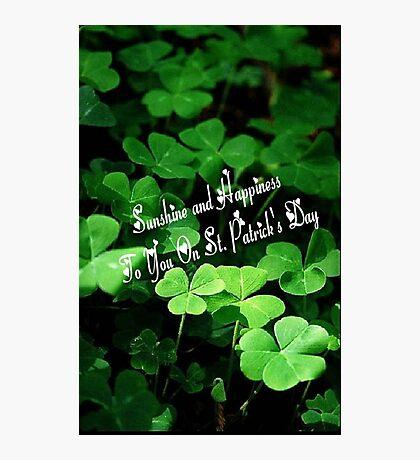 Happy St. Patrick's Day! Photographic Print