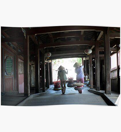 Hoi An wooden bridge Poster