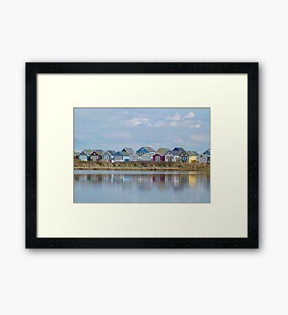 Beach Huts - Mudeford Spit Framed Print
