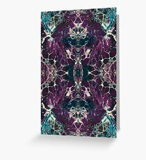 Purple & Turquoise Mirror Greeting Card