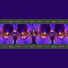 Purple Iris Border by LaRoach