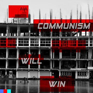 Communism Will Win Aesthetic Hoodie by bartek030963