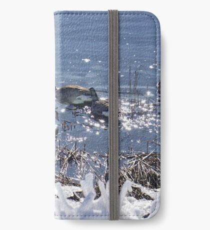 """Winter geese with a """"sparkle"""" ! iPhone Wallet"""