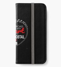 The Road To My Heart Is Paved With Japanese Bobtail Paw Prints - Gift For Passionate Japanese Bobtail Cat Owners iPhone Wallet/Case/Skin