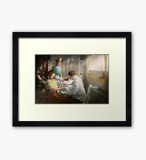 Doctor - Applying first aid - 1917 Framed Print