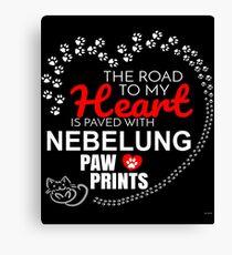 Lienzo El camino a mi corazón está pavimentado con Nebelung Paw Prints - regalo para apasionados dueños de gatos Nebelung