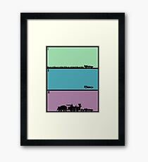 Back to the Future Trilogy Framed Print