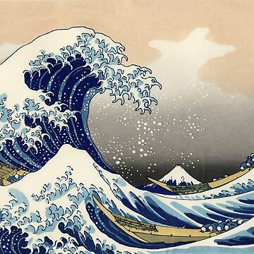 Hokusai's Wave by Bundjum