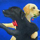 Will Bullas / art print / lab dance... / humor / animals by Will Bullas
