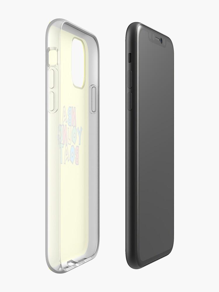 Coque iPhone «NBAYOUNGBOAT», par hefallsasleep