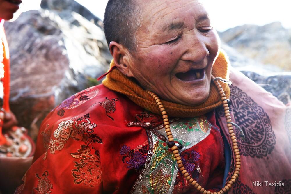 Tibetan Elder by Niki Taxidis