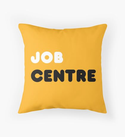 Job Centre - 1980s style unemployment office  Throw Pillow