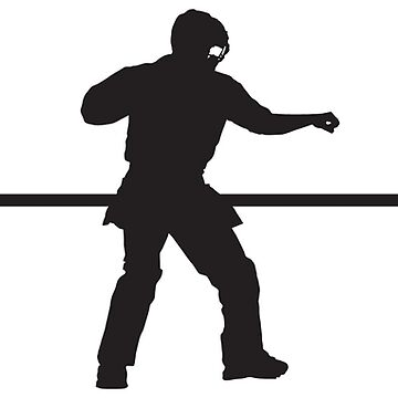 Heartbeat / Pulse - Baseball Umpire Silhouette  by SandpiperDesign