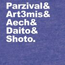 Parzival Art3mis, Aech, Daito, Shoto by zorpzorp