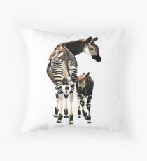 Okapi and Calf  Throw Pillow