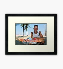 Copacabana Beach, Brazil 2009 Framed Print
