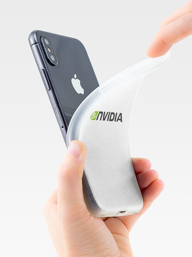 Alternative Ansicht von Nvidia Logo Merchandise iPhone-Hülle & Cover