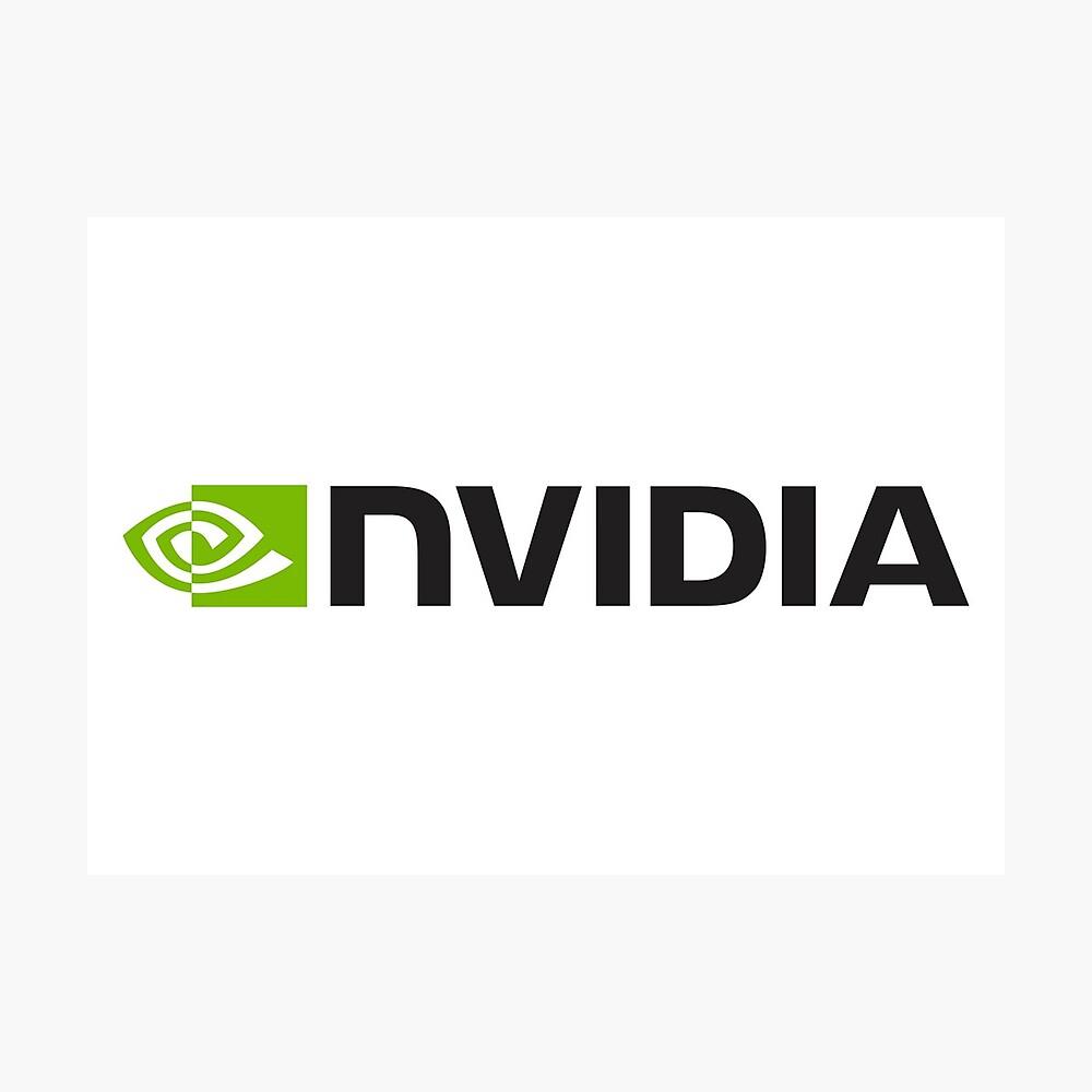 Nvidia Logo Merchandise Fotodruck