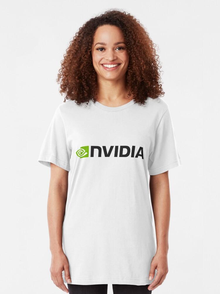 Alternative Ansicht von Nvidia Logo Merchandise Slim Fit T-Shirt