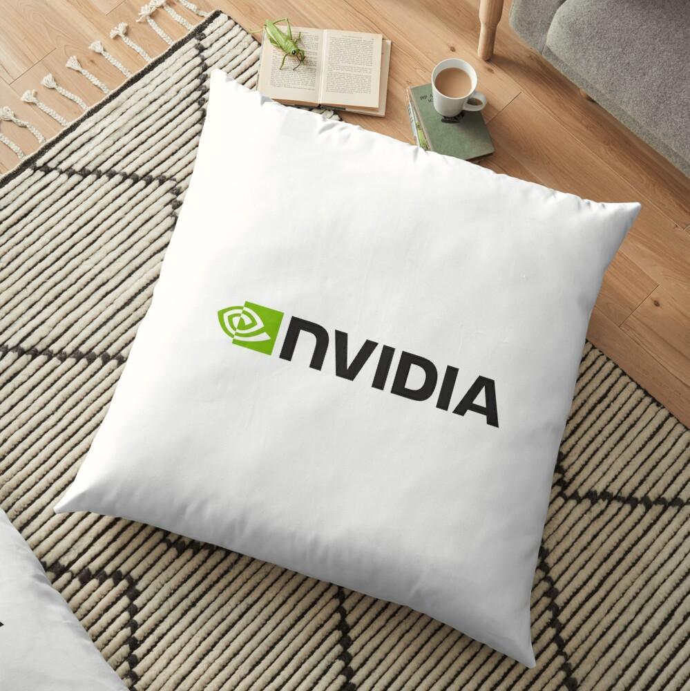 Nvidia Logo Merchandise Bodenkissen