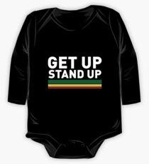 Body de manga larga Levántate Stand up / Reggae rasta vibrations