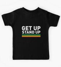 Steh auf / Reggae rasta Vibrationen Kinder T-Shirt
