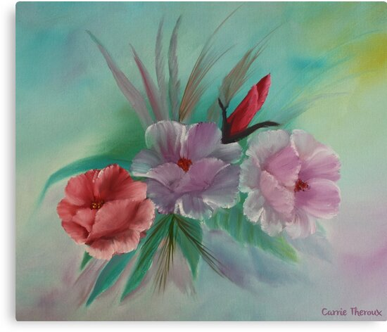 Floral by Carrie Theroux - Green by monarchgraphics