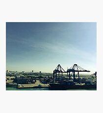 Cargo Ship And Cranes At Laem Chabang Port Photographic Print