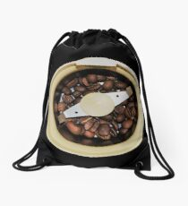 Coffee Time Drawstring Bag