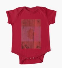 """Canada """"painted on wood"""" flag One Piece - Short Sleeve"""