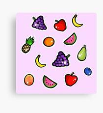 Cutesy fruit  Canvas Print