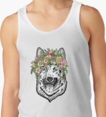 German Shepherd Dog-Florals Tank Top
