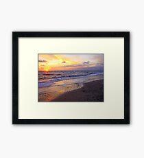 Sunset in Jylland Framed Print