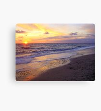 Sunset in Jylland Canvas Print
