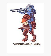 Turianosaurus Wrex Photographic Print