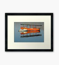 Boats on a Lake Framed Print