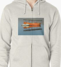 Boats on a Lake Zipped Hoodie
