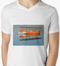 Boats on a Lake Men's V-Neck T-Shirt