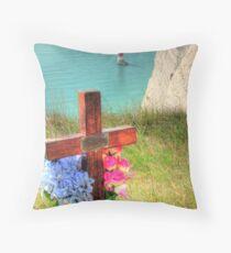 The Sad Side of Beachy Head  Throw Pillow