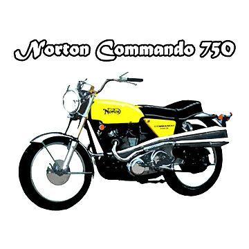 Norton Commando 750 by 45thAveArtCo