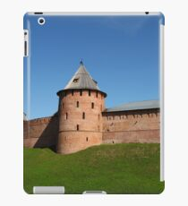 View of the fortress wall of the Novgorod Kremlin iPad Case/Skin