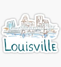 Louisville City Panorama  Sticker