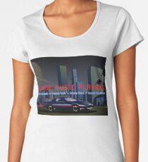 Swamp Music Players, retro futuristic firebird Premium Scoop T-Shirt