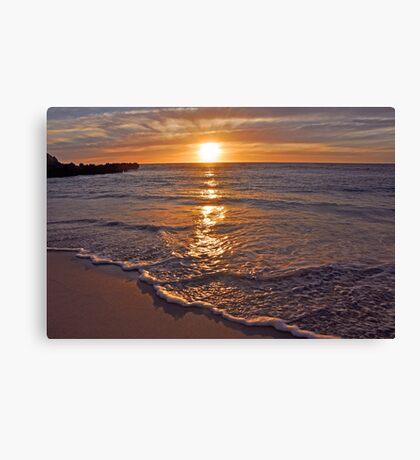 Trigg Beach Sunset  Canvas Print