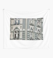 old building facade architecture background Wall Tapestry