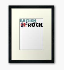 British Rock Music Guitar Framed Print